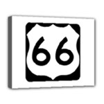 U.S. Route 66 Deluxe Canvas 20  x 16
