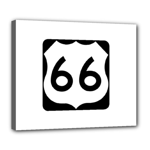 U S  Route 66 Deluxe Canvas 24  X 20