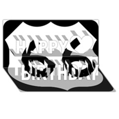 U S  Route 66 Happy Birthday 3d Greeting Card (8x4) by abbeyz71