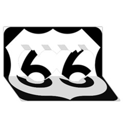 U S  Route 66 Twin Hearts 3d Greeting Card (8x4)