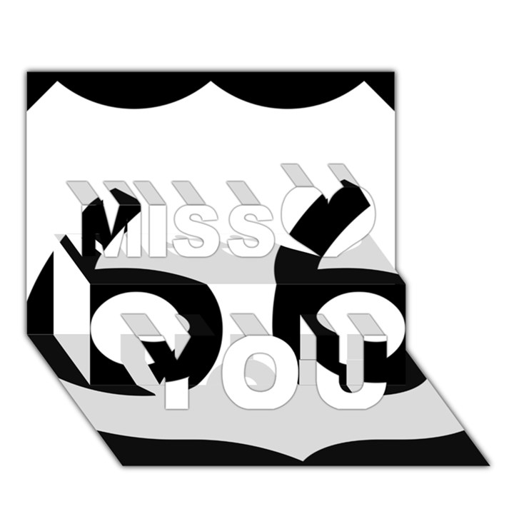 U.S. Route 66 Miss You 3D Greeting Card (7x5)