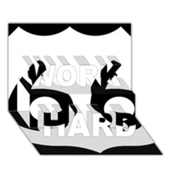 U.S. Route 66 WORK HARD 3D Greeting Card (7x5)
