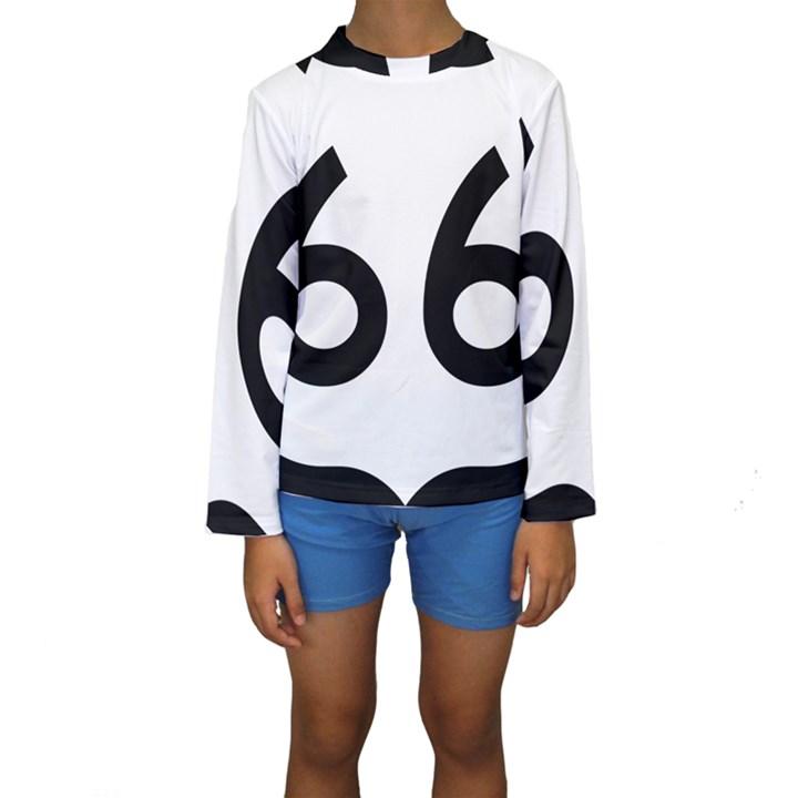 U.S. Route 66 Kids  Long Sleeve Swimwear