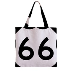 U S  Route 66 Zipper Grocery Tote Bag by abbeyz71
