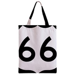 U S  Route 66 Zipper Classic Tote Bag by abbeyz71