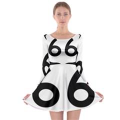 U S  Route 66 Long Sleeve Skater Dress