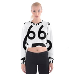 U S  Route 66 Women s Cropped Sweatshirt