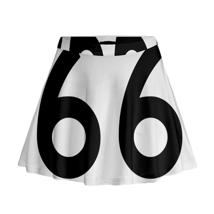 U.S. Route 66 Mini Flare Skirt