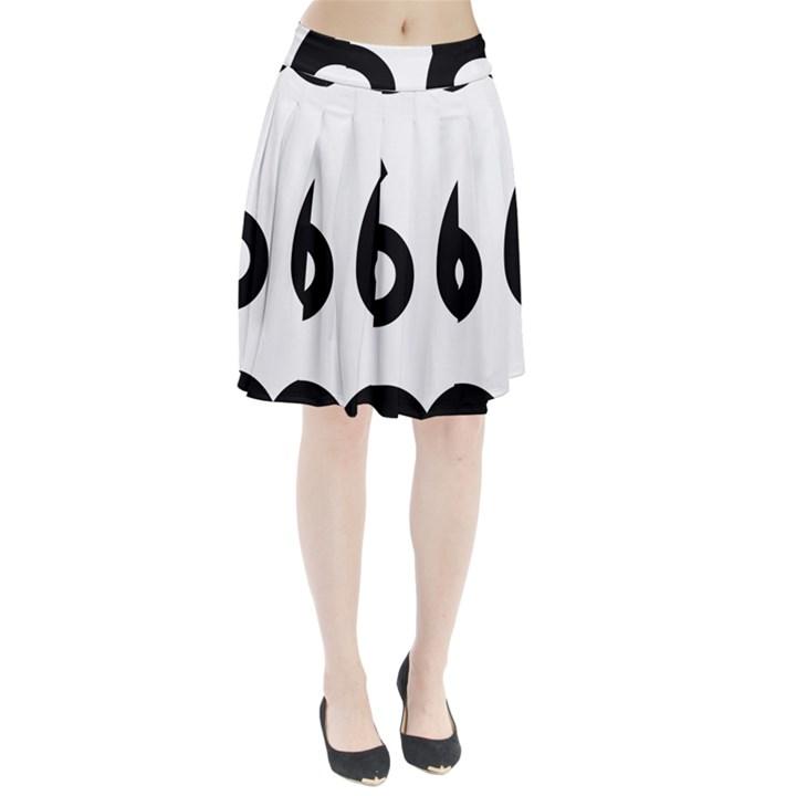 U.S. Route 66 Pleated Skirt