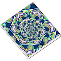 Power Spiral Polygon Blue Green White Small Memo Pads