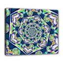 Power Spiral Polygon Blue Green White Deluxe Canvas 24  x 20   View1
