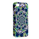 Power Spiral Polygon Blue Green White Apple iPhone 4/4S Premium Hardshell Case View2