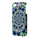 Power Spiral Polygon Blue Green White Apple iPhone 4/4S Premium Hardshell Case View3