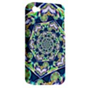 Power Spiral Polygon Blue Green White Apple iPhone 4/4S Hardshell Case (PC+Silicone) View2