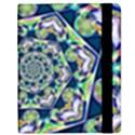 Power Spiral Polygon Blue Green White Samsung Galaxy Tab 8.9  P7300 Flip Case View2