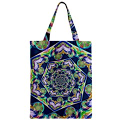 Power Spiral Polygon Blue Green White Classic Tote Bag by EDDArt