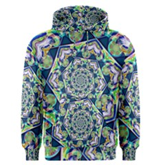 Power Spiral Polygon Blue Green White Men s Pullover Hoodie