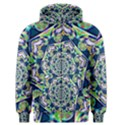 Power Spiral Polygon Blue Green White Men s Zipper Hoodie View1
