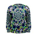 Power Spiral Polygon Blue Green White Women s Sweatshirt View1