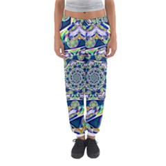 Power Spiral Polygon Blue Green White Women s Jogger Sweatpants