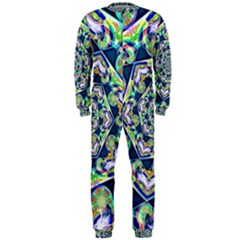 Power Spiral Polygon Blue Green White Onepiece Jumpsuit (men)  by EDDArt