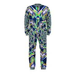 Power Spiral Polygon Blue Green White Onepiece Jumpsuit (kids) by EDDArt