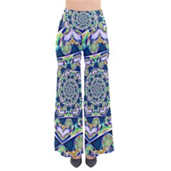 Power Spiral Polygon Blue Green White Pants by EDDArt