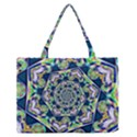 Power Spiral Polygon Blue Green White Medium Zipper Tote Bag View1