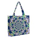Power Spiral Polygon Blue Green White Medium Zipper Tote Bag View2