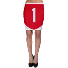 New Zealand State Highway 1 Bodycon Skirt