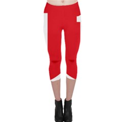 New Zealand State Highway 1 Capri Leggings