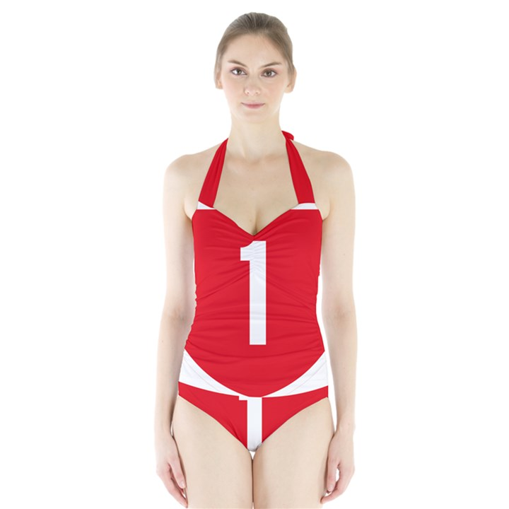 New Zealand State Highway 1 Halter Swimsuit