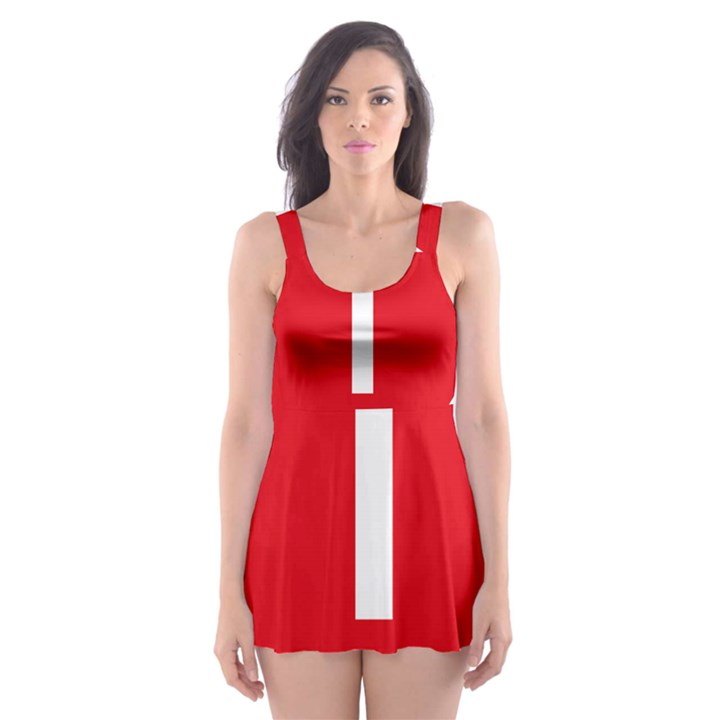 New Zealand State Highway 1 Skater Dress Swimsuit