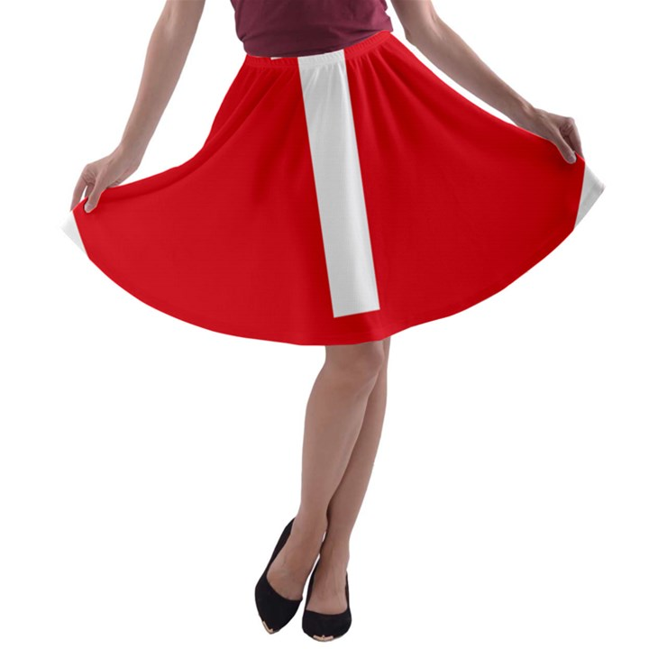 New Zealand State Highway 1 A-line Skater Skirt