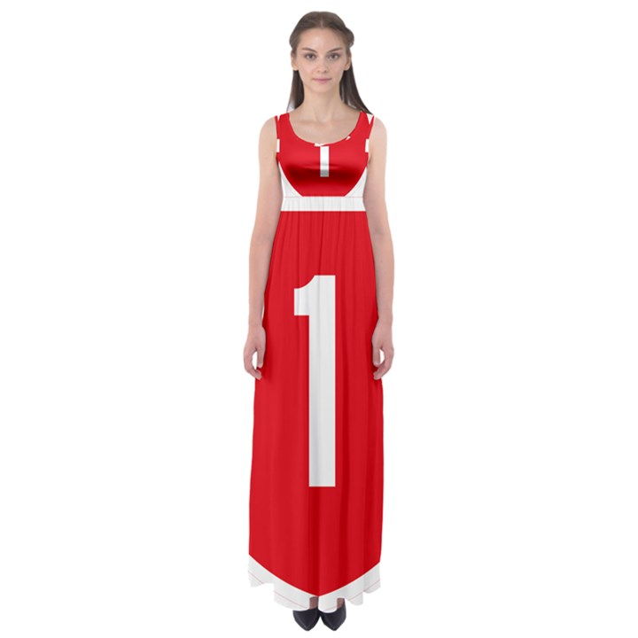 New Zealand State Highway 1 Empire Waist Maxi Dress