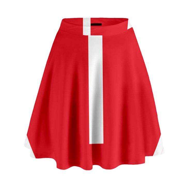 New Zealand State Highway 1 High Waist Skirt