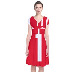 New Zealand State Highway 1 Short Sleeve Front Wrap Dress