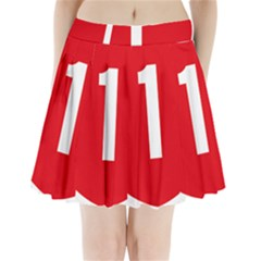 New Zealand State Highway 1 Pleated Mini Skirt