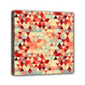 Modern Hipster Triangle Pattern Red Blue Beige Mini Canvas 6  x 6  View1