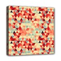 Modern Hipster Triangle Pattern Red Blue Beige Mini Canvas 8  x 8  View1