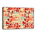 Modern Hipster Triangle Pattern Red Blue Beige Canvas 18  x 12  View1