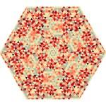 Modern Hipster Triangle Pattern Red Blue Beige Mini Folding Umbrellas
