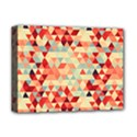 Modern Hipster Triangle Pattern Red Blue Beige Deluxe Canvas 16  x 12   View1