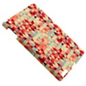 Modern Hipster Triangle Pattern Red Blue Beige Apple iPad 3/4 Hardshell Case View5