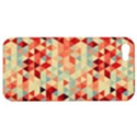 Modern Hipster Triangle Pattern Red Blue Beige Apple iPhone 5 Hardshell Case View1