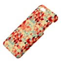Modern Hipster Triangle Pattern Red Blue Beige Apple iPhone 5 Hardshell Case View4