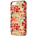 Modern Hipster Triangle Pattern Red Blue Beige Apple iPhone 5 Classic Hardshell Case View3