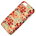 Modern Hipster Triangle Pattern Red Blue Beige Apple iPhone 5 Classic Hardshell Case View4