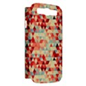 Modern Hipster Triangle Pattern Red Blue Beige Samsung Galaxy S III Hardshell Case (PC+Silicone) View2