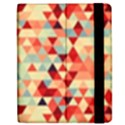 Modern Hipster Triangle Pattern Red Blue Beige Apple iPad 3/4 Flip Case View2